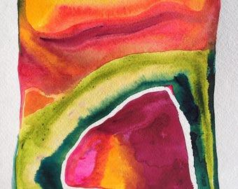 """Golden Hour + original watercolor + 9x12"""""""