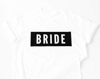 Block Bride T Shirt Bride Shirt Bride Gift Engagement Gift Wedding Gift Bachelorette Shirt Bride T-shirt Bridal Shower Gift Gift for Bride