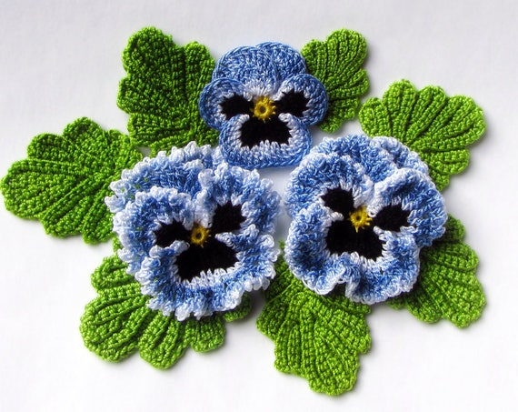 Irish crochet flower pattern crochet pansy pdf pattern instant irish crochet flower pattern crochet pansy pdf pattern instant download photo tutorial spring flower pansy applique pattern mothers day gift dt1010fo