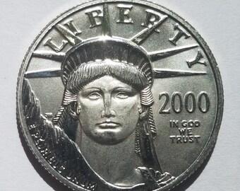 Platinum Coin, Uncirculated 2000 1/2 OZ Platinum Eagle, Platinum Eagle, Platinum Investment, 9995 platinum eagle, BU Platinum Coin
