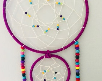 Rainbow beaded dream catcher