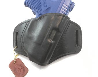 Springfield XDS 3.3 with Crimson Trace Laserguard - Handcrafted Leather Pistol Holster