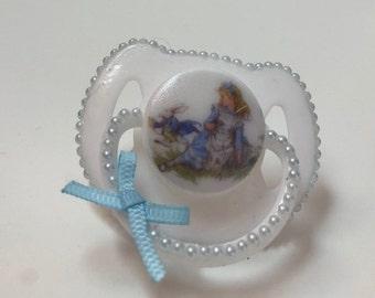 Alice in Wonderland  magnetic reborn doll dummy pacifier