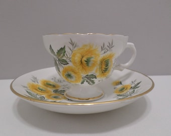 Claire Bone China Tea Cup and Saucer Set Made in England