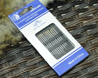 48 Self Threading Self-threading Needles Thread Sewing Stitching Pins