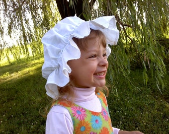 Mop Cap Pattern with FREE Video Tutorial Child to Adult sizes
