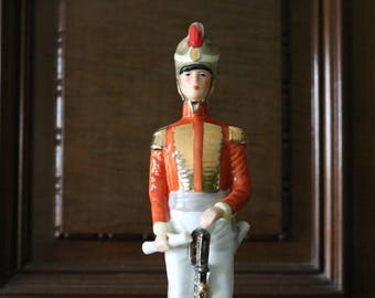 Capodimonte Naples Militaria Military Porcelain Figure of a Soldier. In mint condition