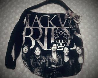 BVB - sac à main sac à main - Shirt Upcycled bande - Goth / Rock / métal
