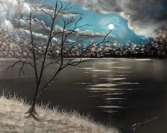 Night in the lake