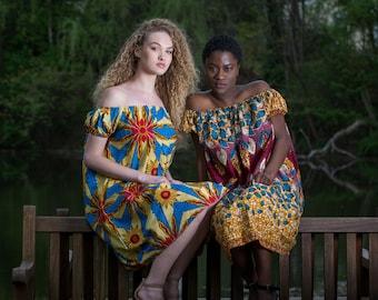 DamiV. Dayo & Dunni off shoulder dresses