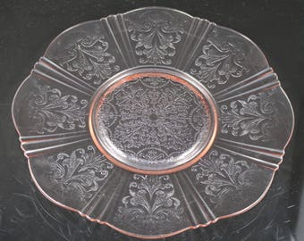 Set of 2,American Sweetheart Pink Salver Plates