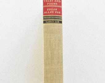 Selected Tales and Poems by Edgar Allan Poe Hardcover 1943 Walter Black Classics Club Vintage Art Deco Spine Decor