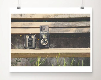 vintage camera photograph still life photograph kodak camera photograph english garden photograph vintage camera print