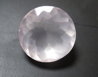 Natural Rose Quartz Faceted Gemstone Round shape loose semi precious gemstone size 22 x 15  mm approx ET 4628 Wholesale Gemstone