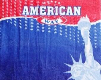 NAPKIN United States: Statue of liberty #DI010