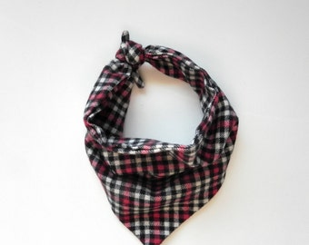 Plaid Bandana - Red, Black, & White