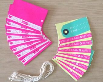 Set of 8 mini tags and envelopes (TG01)