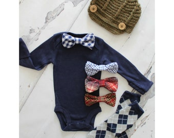 Father's Day Baby Outfit, Newborn Baby Boy Coming Home Outfit Set, 1st Birthday Outfit. Bow Tie Bodysuit, Leg Warmers, Hat Daddy and Me