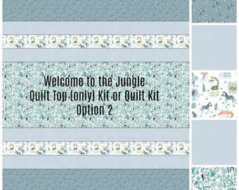 Jungle Baby Quilt Kit -  Baby Boy Quilt Kit - Toddler Quilt Kit - Welcome to the Jungle Quilt Kit - Homemade Baby Quilt Kit - Handmade Quilt