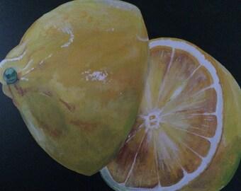 Half Sour....fine art with a twist/lemon/large