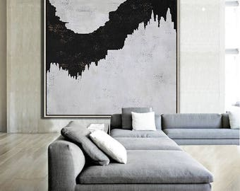 Abstract painting Large Canvas Art, Minimalist Abstract Art, hand painted acrylic painting on canvas - Ethan Hill Art No.H58S