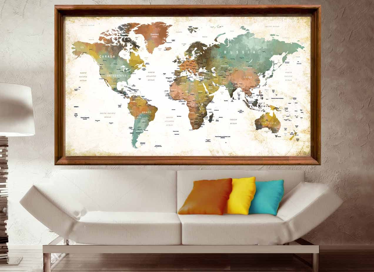 World map poster large printworld map wall artworld map large gallery photo gallery photo gallery photo gallery photo gumiabroncs Choice Image