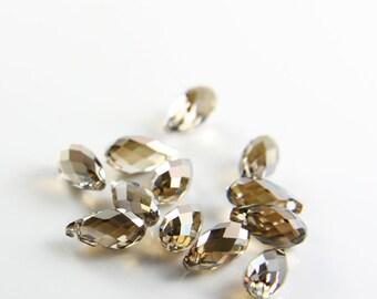 2pcs Swarovski Drop 6010 Briolette-Bronze Shade Crystal 11x5.5mm (SW83601) *