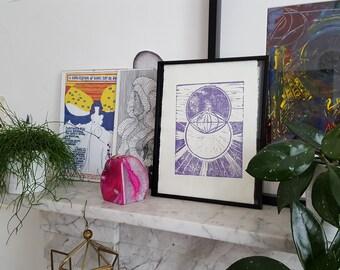 LMJD Original Vesica Pisces Print
