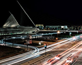 Milwaukee Art Museum - Calatrava Museum - Long Exposure - Full Color - Nightscape - Milwaukee At Night - Landscape Photography