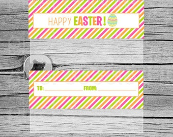 Happy Easter Topper Printables - Goody bag topper - Candy bag topper - Digital - Instant Download - Kids party - Easter Egg - Spring