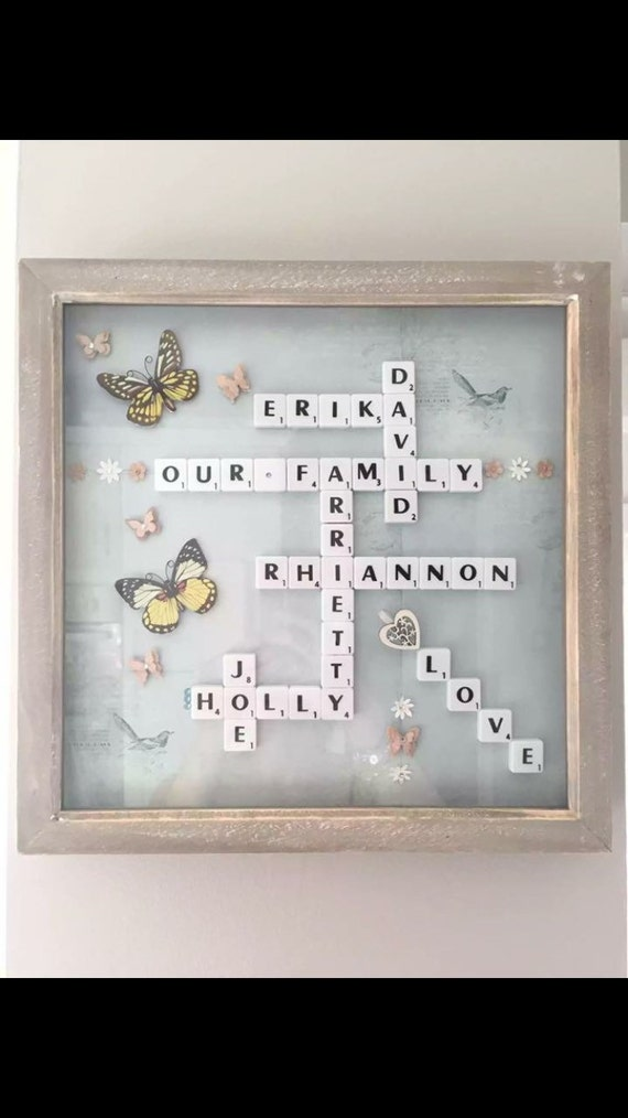 Personalised Scrabble, family frame scrabble wall art, name sign ...
