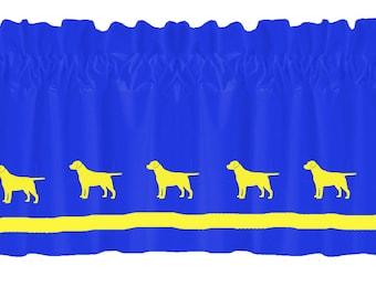 Labrador Retriever (Yellow Lab) Window Valance Curtain - Your Choice of Colors
