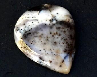 Dendritic Agate Cabochon Stone (28mm x 23mm x 5mm) - Drop Cabochon