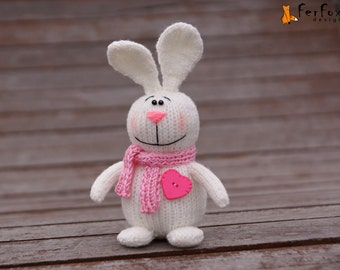 White rabbit Plush bunny rabbit Girlfriend gift Easter bunny decor Easter gift for girl Stuffed bunny Plush rabbit Easter Stuffed animal
