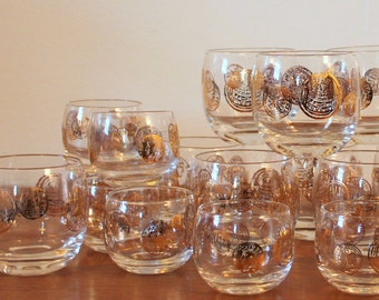 Federal Glass Co. Roly Poly Glass Set