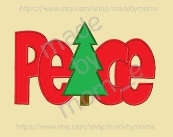 Christmas Peace Aplique