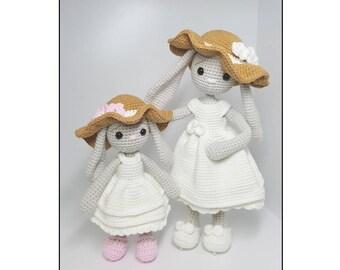 crochet pattern amigurumi mom and baby bunny