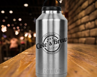 RTIC 64 oz Growler/Double Wall Stainless Steel/Beer/Craft Beer/Monogram/Personailzed/Christmas Gift/Gifts for Her or Him/Fast Shipping