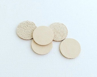 Large Leather Disc to add to our 30mm Stainless Steel Lockets - Aromatherapy Disc - Diffuser Disc