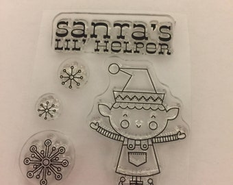 Clear mini cling rubber stamps Christmas