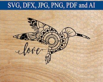 Hummingbird SVG, Hummingbird Mandala svg, Mandala, Svg Mandala, Mandala svg, Animal svg, Commercial Use SVG, Cut File, Svg Designs, SVG