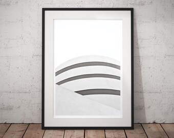 Black and White Photography 'White' minimal modern fine art print, monochrome wall decor, contemporary minimalist large wall art