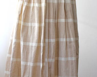 Plaid Skirt 100% cotton