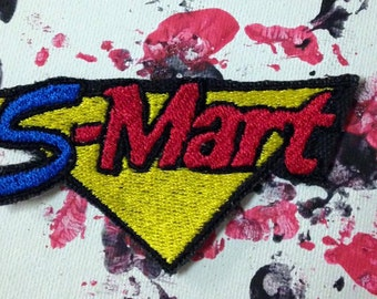 Shop S-Mart patch/applique, Evil Dead patch, Ash vs Evil Dead, horror patch, horror gift, Army of Darkness, gift under 10, Bruce Campbell
