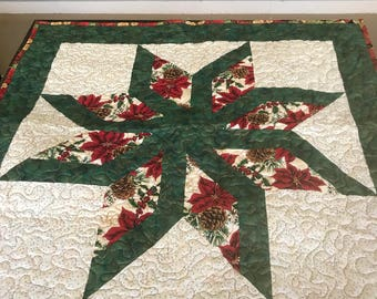 Beautiful christmas wall hanging or table topper.