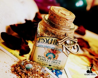 Divination Magick Incense *Psychic Veil* - Rose, Camphor, Cinnamon, Lemon & Aquamarine crystal
