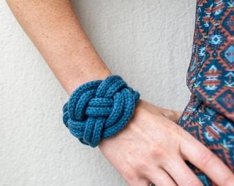 Bow bracelet marin color jeans blue