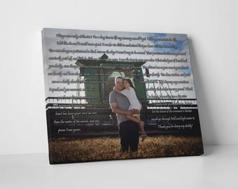 Father's Day Gift from daughter, Father Daughter Poem, Father gift from kids, gifts for dad from daughter, daughter to father gift, canvas