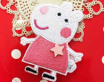 Mini Qute Collection - Peppa pig series ~  Rebecca rabbit hair clip  - 1 pc