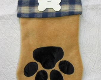 "Christmas dog stocking pattern:  ""Santa Paws"" #403"